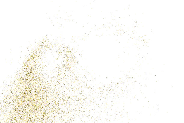 Gold glitter texture isolated on white. Gold glitter texture isolated on white. Golden color of winners. Aureate abstract particles on ofay substrate. Explosion of confetti shine. Celebratory background. Vector illustration,eps 10. sergionicr stock illustrations