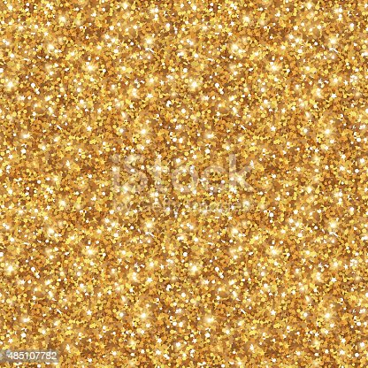 Gold Glitter Texture Seamless Sequins Pattern Stock Vector ...