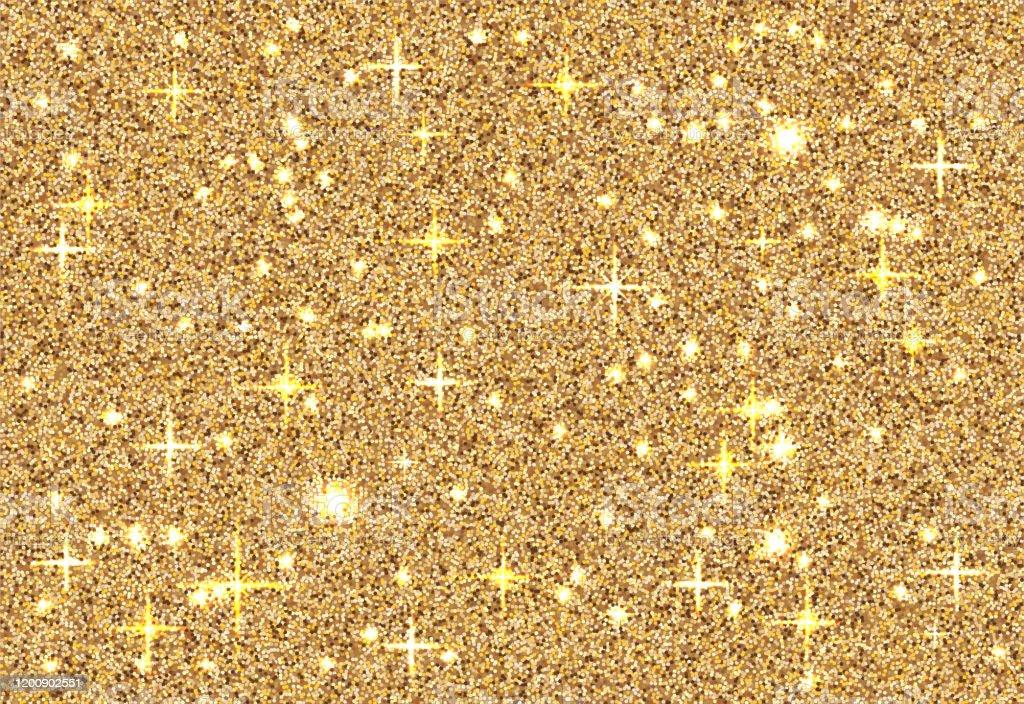 Gold Glitter Texture Sparkle Shiny Golden Background 10 Eps Design Stock Illustration Download Image Now Istock