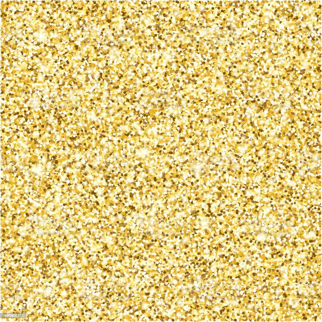 Gold glitter texture vector background