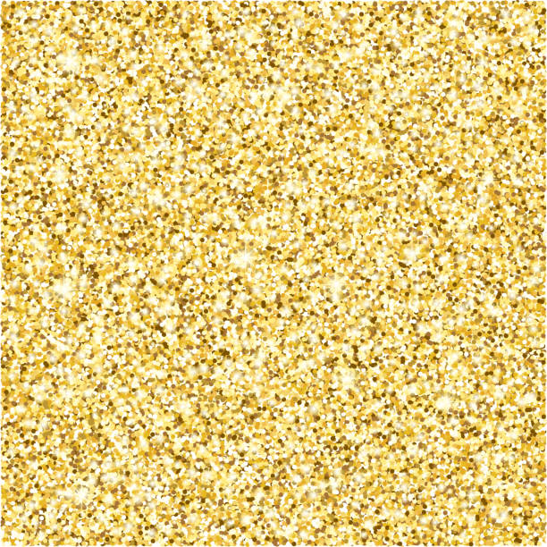 gold glitter texture vector background - sparkles stock illustrations, clip art, cartoons, & icons