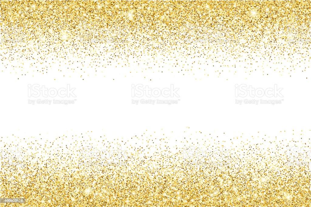 Gold glitter texture vector gradient background vector art illustration