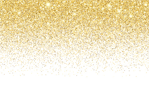 Gold glitter texture vector gradient background