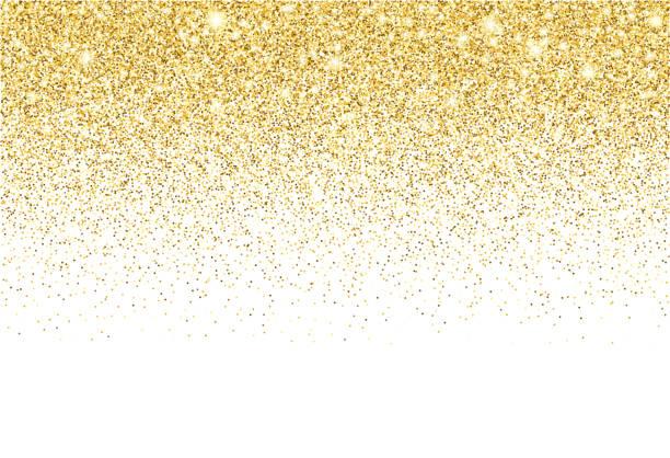 tło gradientu wektorowego tekstury złotego brokatu - migoczący stock illustrations