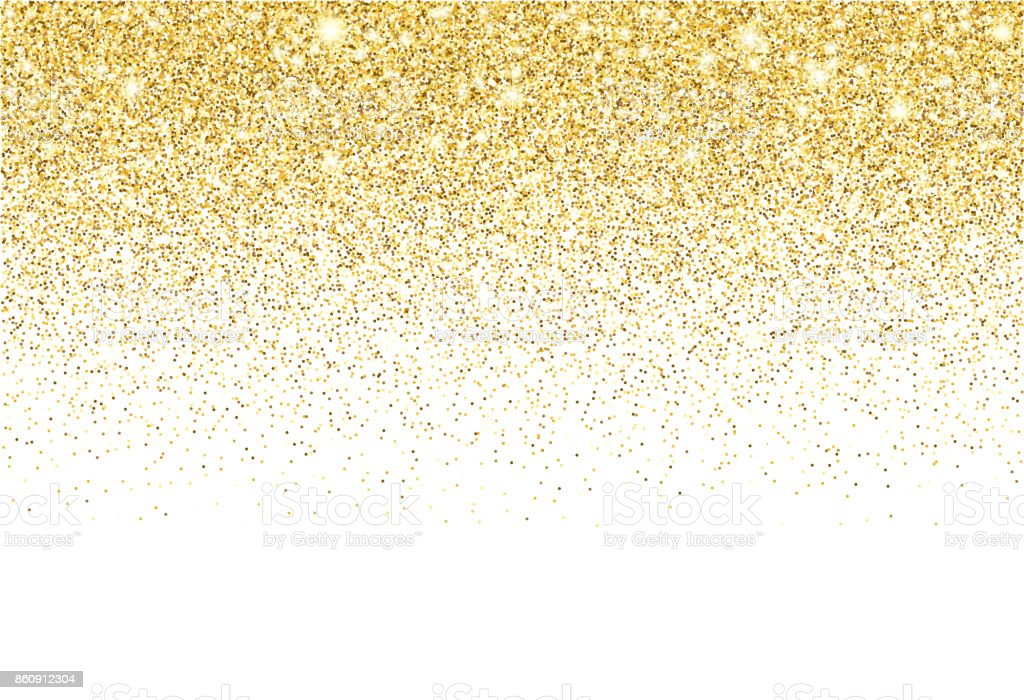 Gold glitter texture vector gradient background vector art illustration
