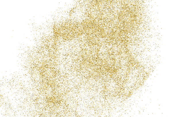 Gold glitter texture vector. Gold glitter texture isolated on white. Amber color background. Golden explosion of confetti. Vector illustration,eps 10. sergionicr stock illustrations