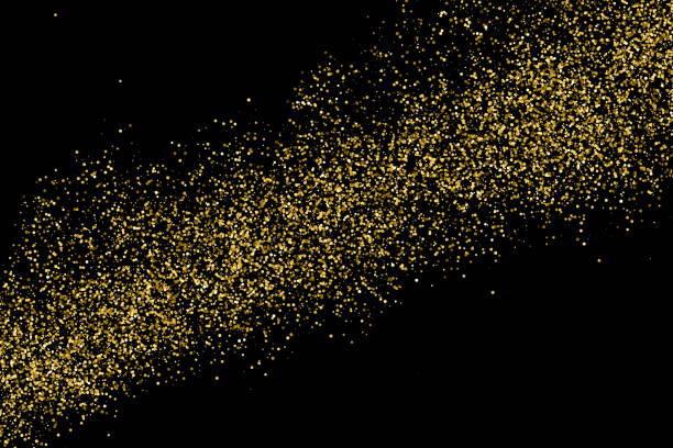 Gold glitter texture vector. Gold glitter texture isolated on black. Amber particles color. Celebratory background. Golden explosion of confetti.  Digitally Generated Image. Vector illustration,eps 10. sergionicr stock illustrations