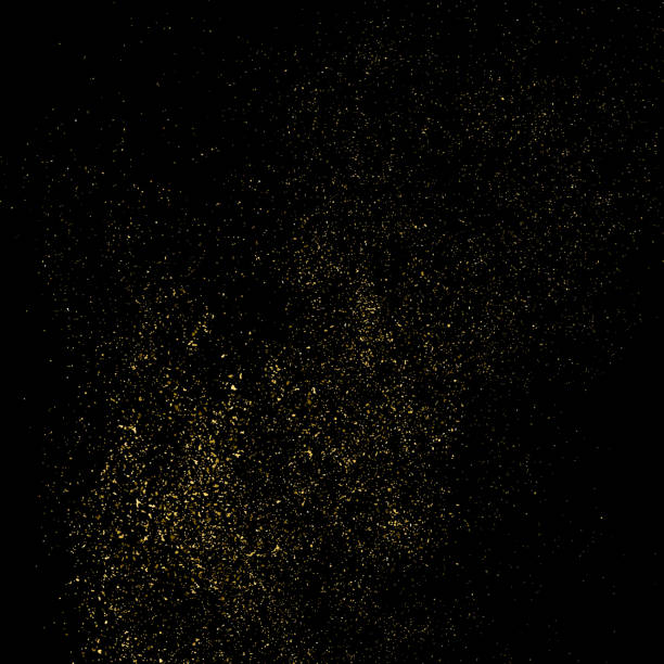 Gold glitter texture vector. Gold glitter texture isolated on black square. Amber particles color. Celebratory background. Explosion of confetti. Vector illustration,eps 10. sergionicr stock illustrations