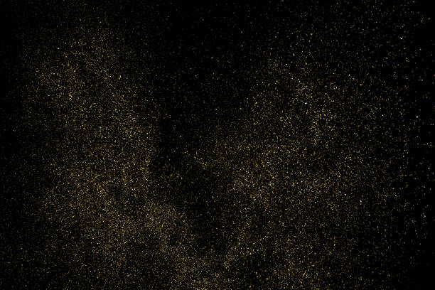 Gold Glitter Texture Vector. Gold Glitter Texture Isolated On Black. Amber Particles Color. Celebratory Background. Golden Explosion Of Confetti. Design Element. Digitally Generated Image. Vector Illustration, Eps 10. sergionicr stock illustrations