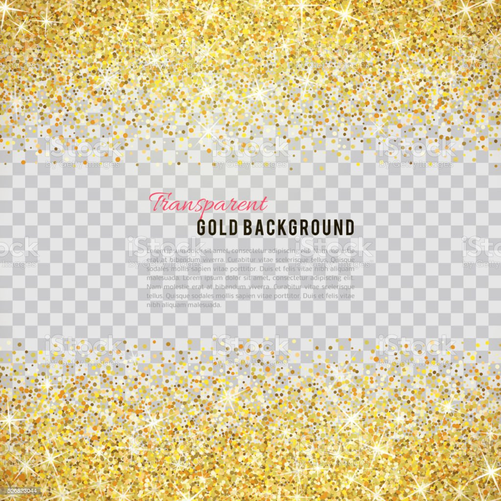 Gold glitter texture with sparkles vector art illustration