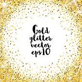 Gold glitter vector background