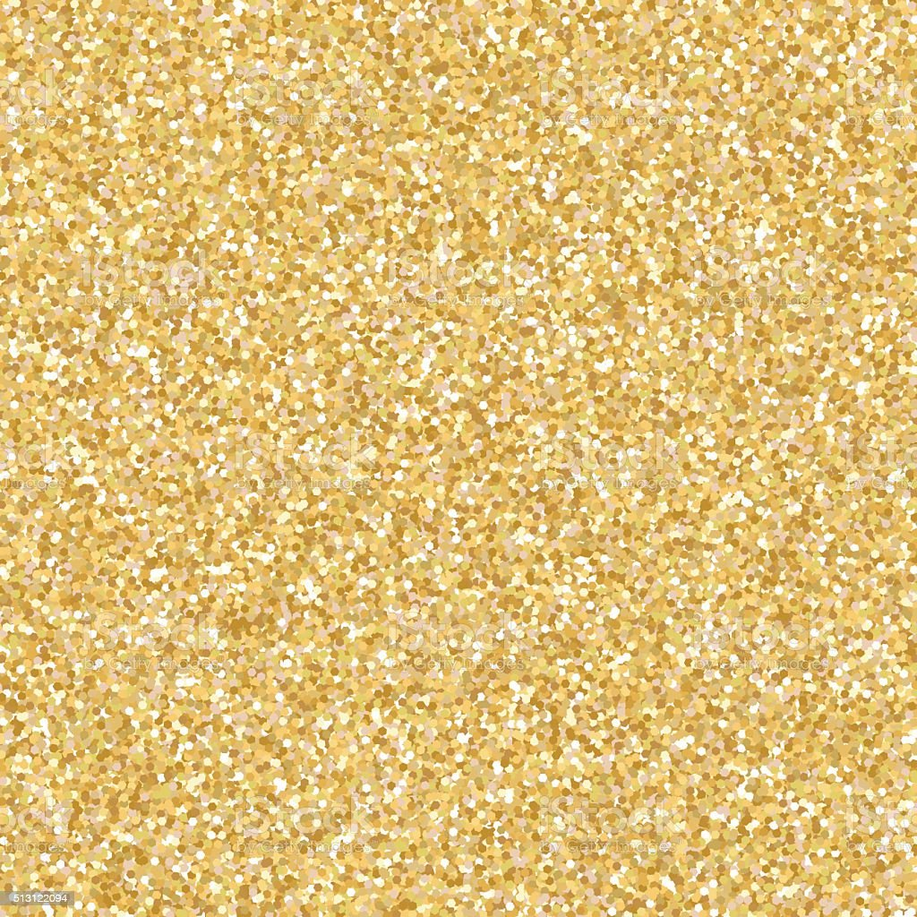Glitter Gold: Gold Glitter Vector Background Stock Illustration