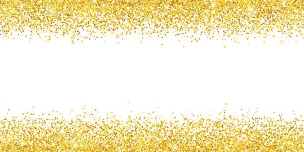 Gold glitter wide border backround. Vector vector art illustration
