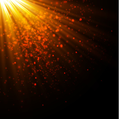Gold Glow Particles Bokeh Glitter Effect Burst With Sparklesgolden  Sparkling Glitters And Stars Vector Festive Illustration Of Shiny Particles  Fire