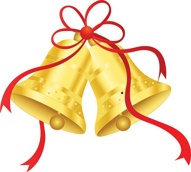 gold/golden bells - clipart goldene hochzeit stock-grafiken, -clipart, -cartoons und -symbole