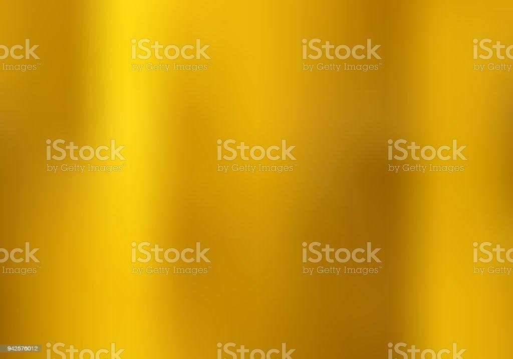 Gouden kleurovergangsstijl onscherpe achtergrond. Gouden metalen materiële textuur. - Royalty-free Abstract vectorkunst