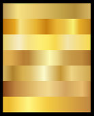 Gold gradient set vector - collection