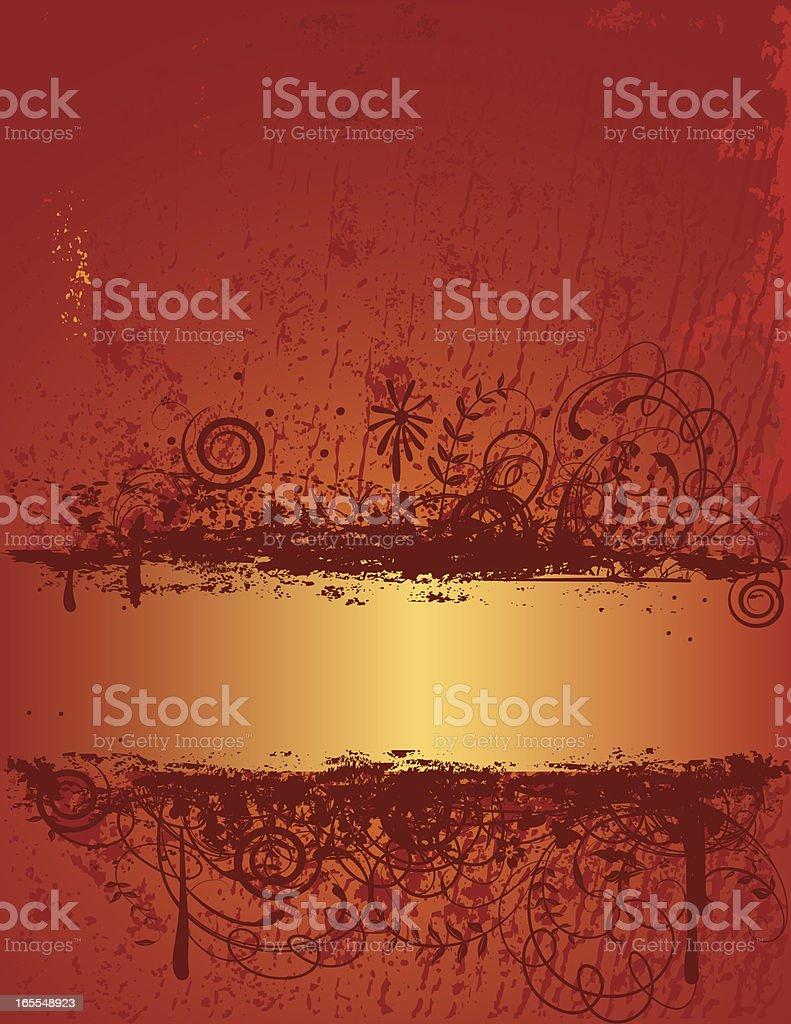 Gold Grunge Banner royalty-free stock vector art