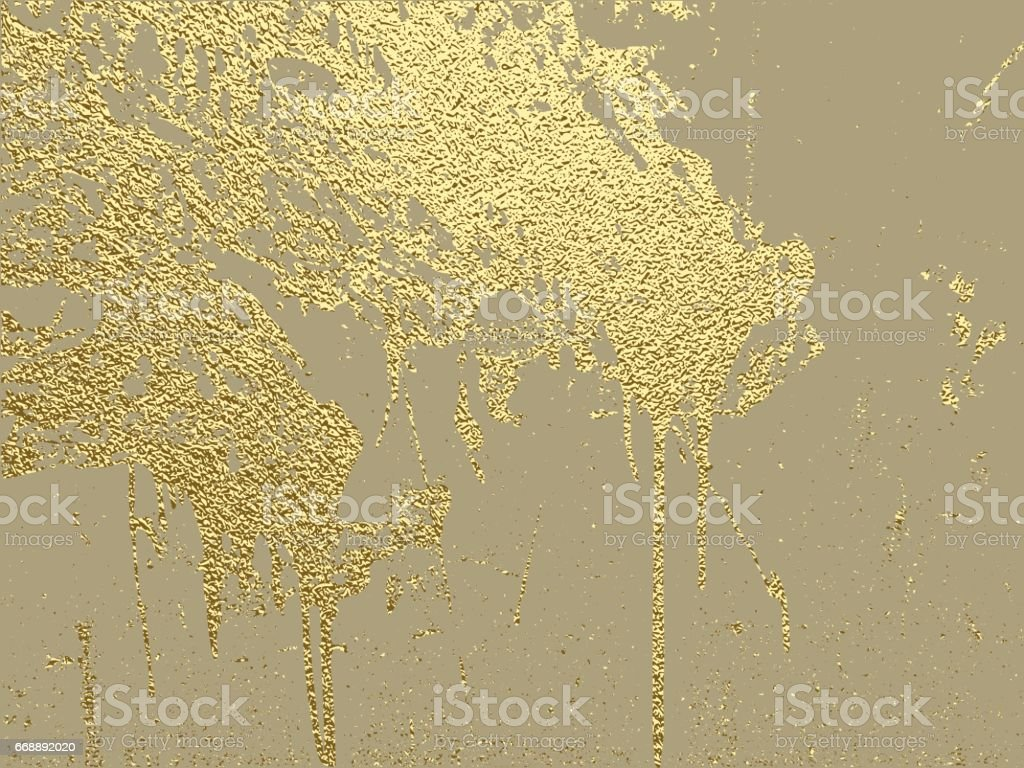 Gold grunge texture to create distressed effect. vector art illustration