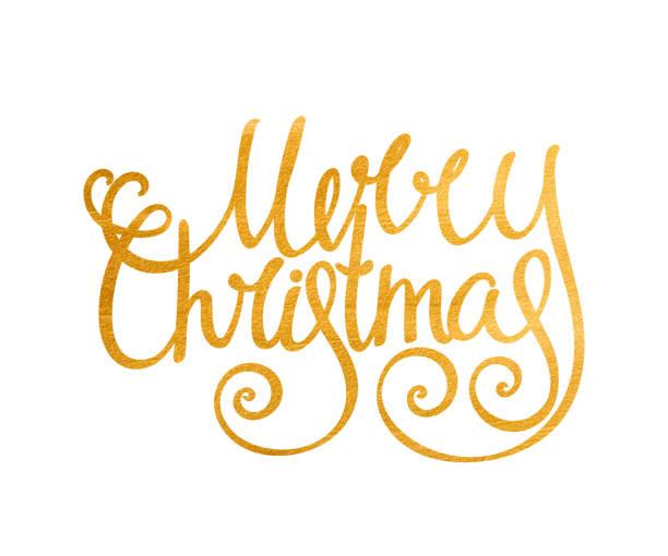 Gold manuscrite inscription joyeux Noël. - Illustration vectorielle