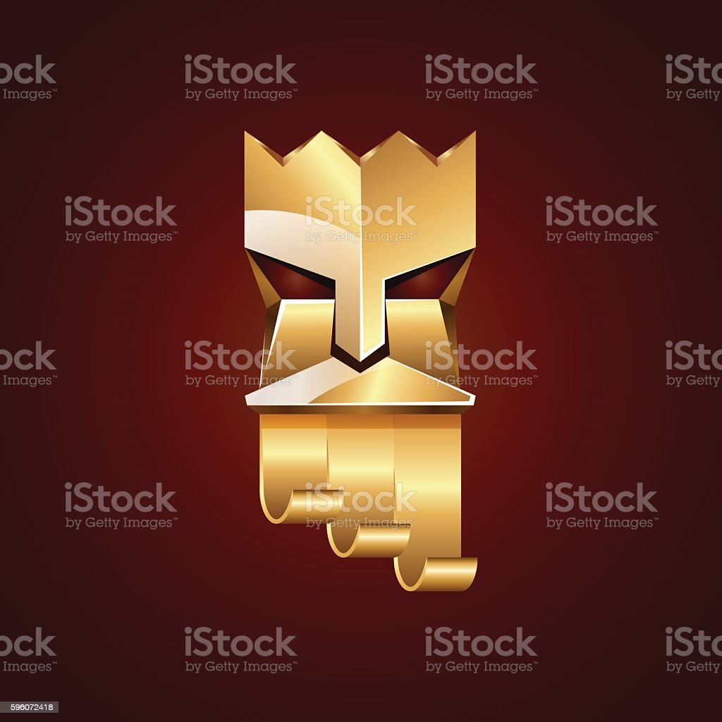 Gold head of king on dark red background. royalty-free gold head of king on dark red background stock vector art & more images of adult