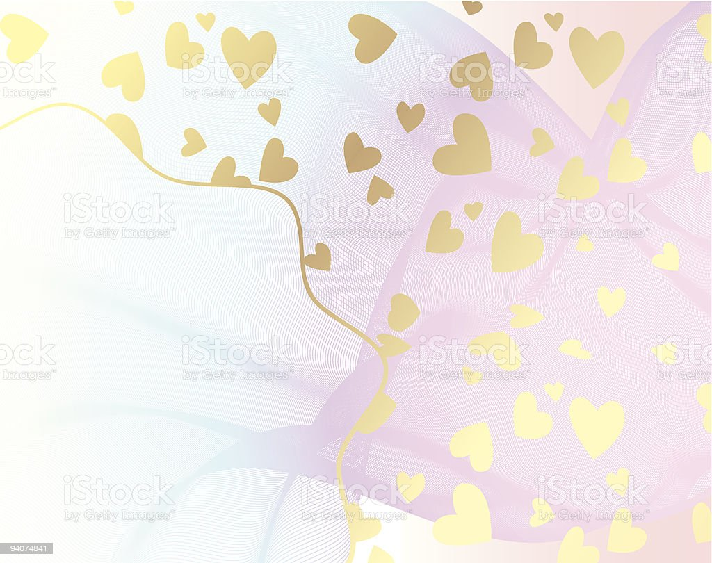 Gold Hearts royalty-free stock vector art
