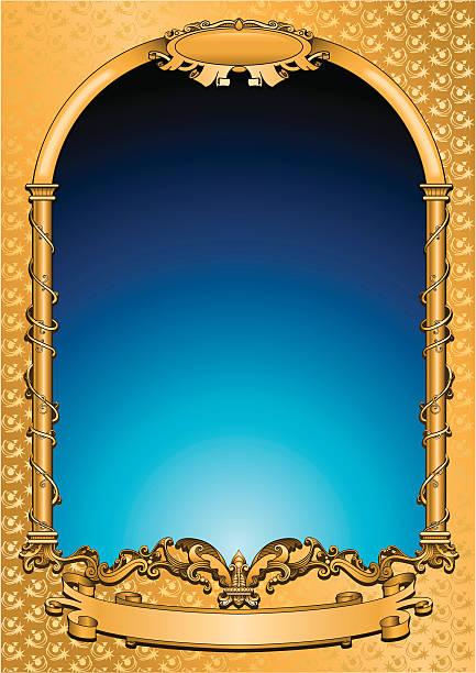 gold-symbol frame - gesims stock-grafiken, -clipart, -cartoons und -symbole