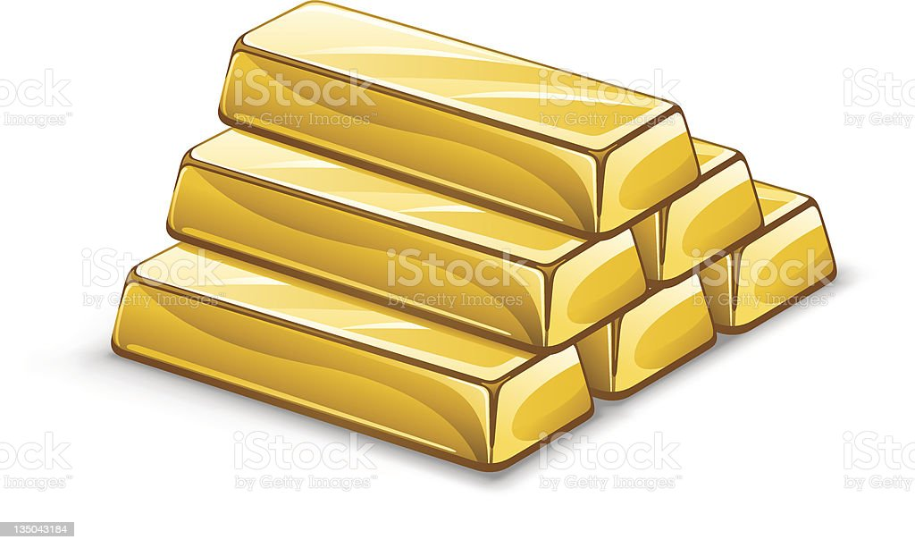 Gold ingots royalty-free stock vector art