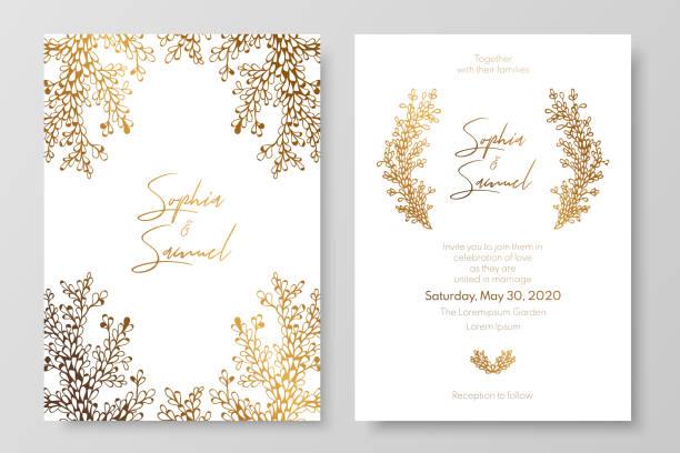 Goldene Hochzeit Stock Vektoren Und Grafiken Istock