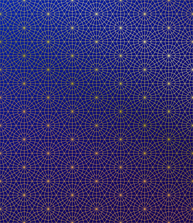 Gold Islamic Pattern on Gradient Background.