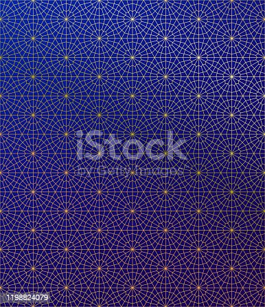 istock Gold Islamic Pattern on Gradient Background. 1198824079