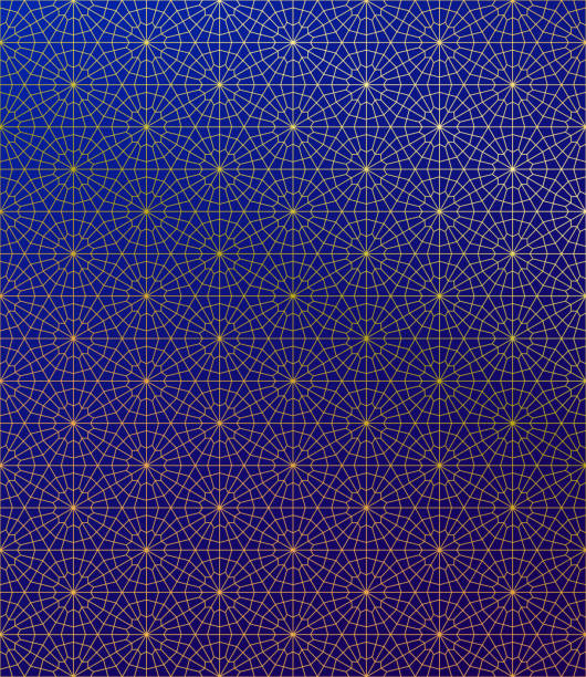 Gold Islamic Pattern on Gradient Background. Gold Islamic Pattern on Gradient Background. ramadan stock illustrations