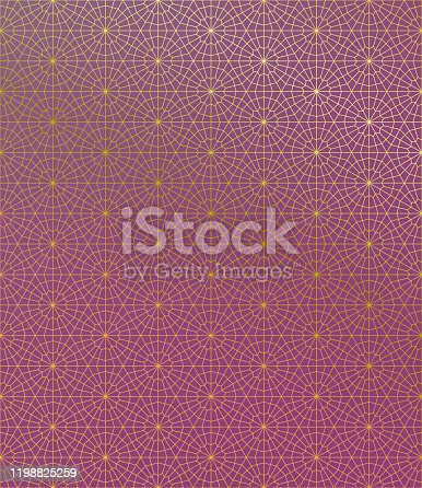 istock Gold Islamic Pattern on Gradient Background. 1198825259