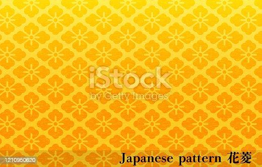 Gold Japanese paper and Japanese pattern: Hanabishi, transration: Hanabishi