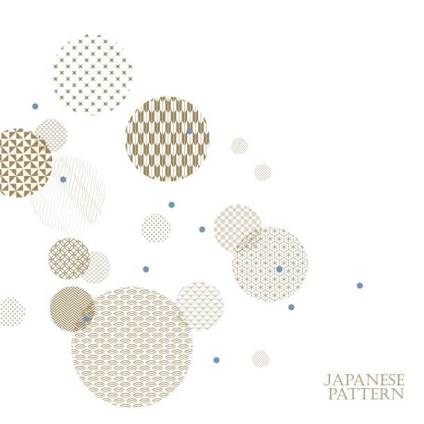 Gold Japanese pattern vector. Geometric template background. Gold Japanese pattern vector. Geometric template background. japanese culture stock illustrations