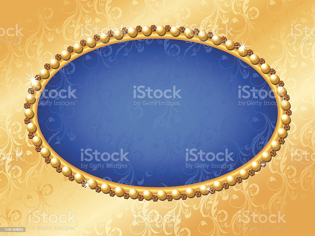 Gold Jeweled Frame royalty-free stock vector art