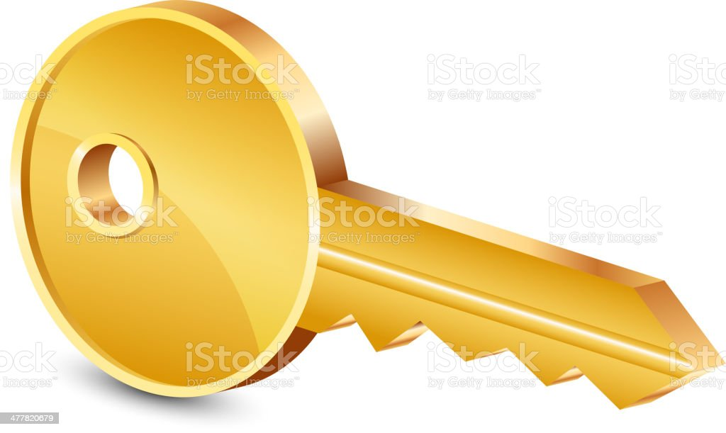 gold key royalty-free stock vector art