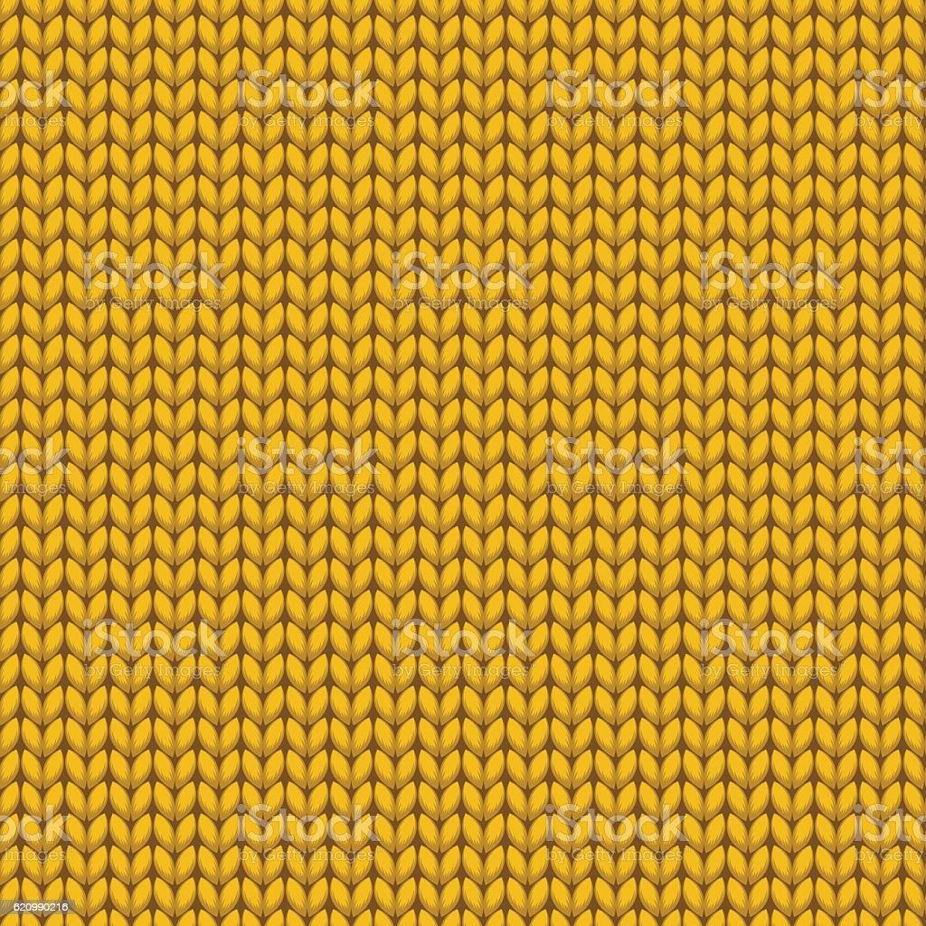 Gold Knitted Sweater Material Seamless Pattern ilustração de gold knitted sweater material seamless pattern e mais banco de imagens de arte, cultura e espetáculo royalty-free