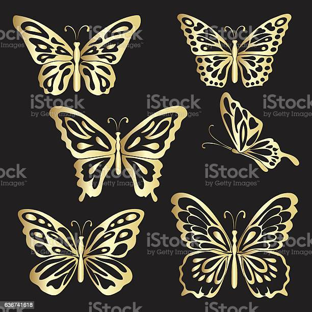 Gold lace butterfly on black background vector id636741618?b=1&k=6&m=636741618&s=612x612&h=e fdwzxkqd04jlnls3ppnxf5 sqmrzwrr4osdjomprq=