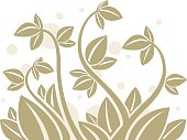 A decorative element. Leaf element on one layer, background on another.