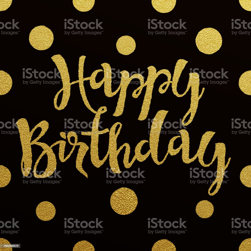 happy birthday you lettering gold frame stock vector gold lettering design for card happy birthday stock vector 146