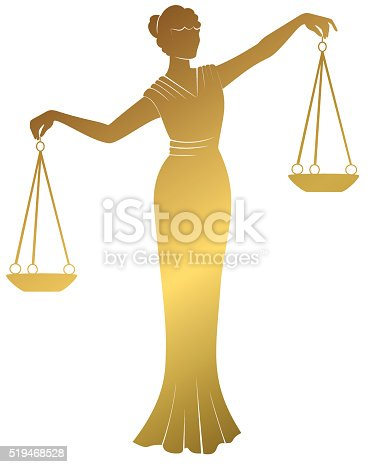 libra .lady justic Themis . Equality balance right  fair trial .