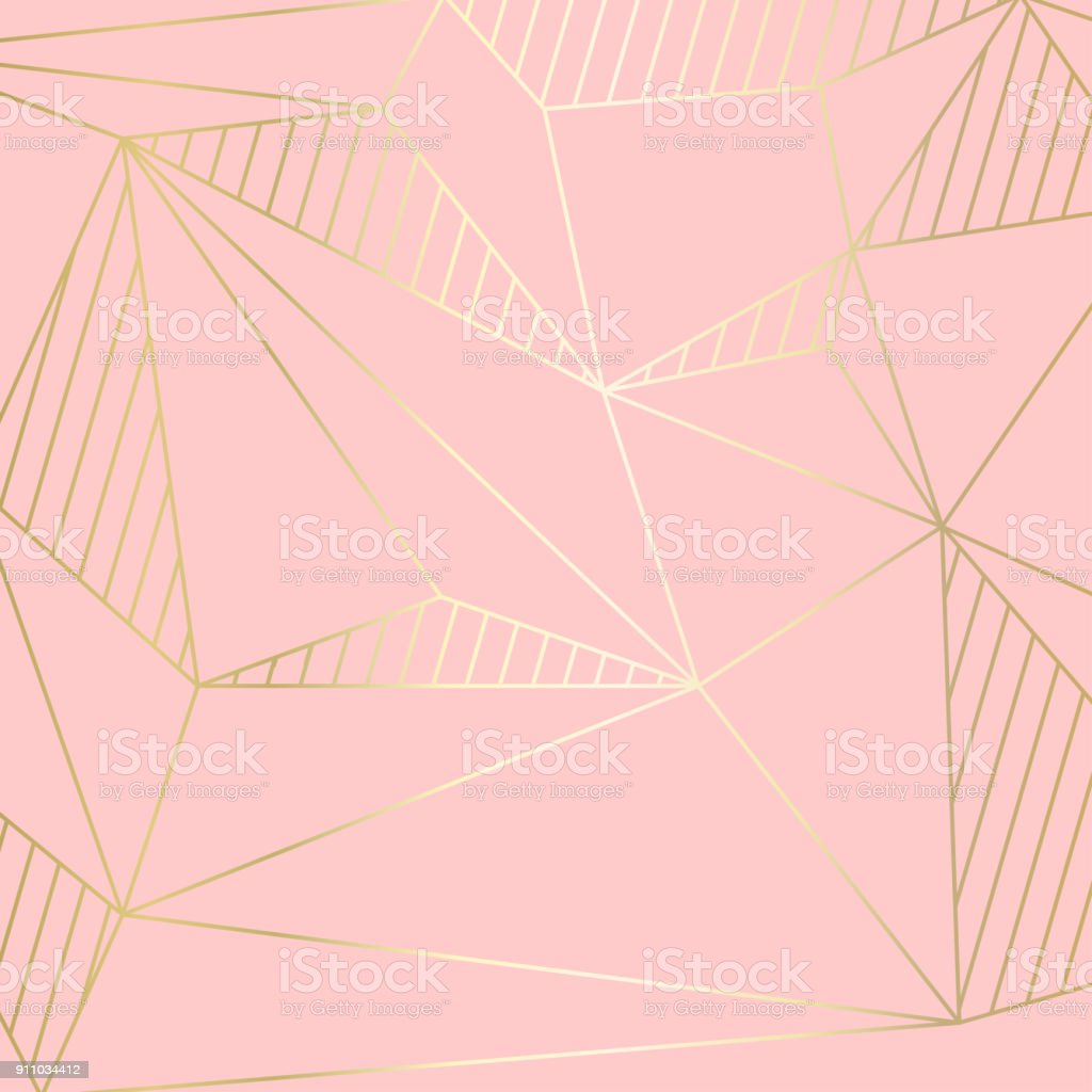(illustration) gold line background, abstract artistic of geometric background vector art illustration