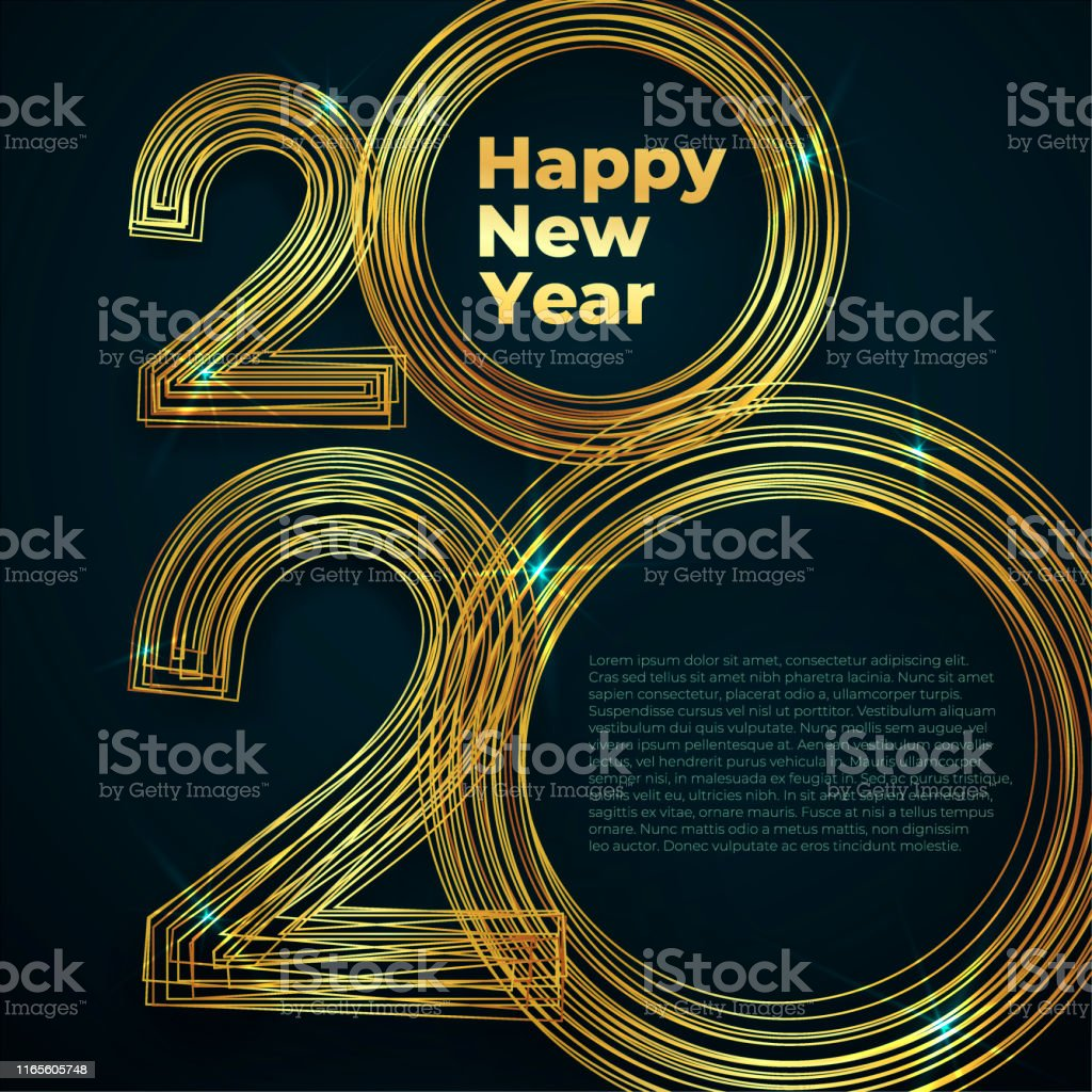 Gold Lines New Year 2020 Creative Element For Design Luxury