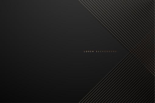 Gold lines on black background