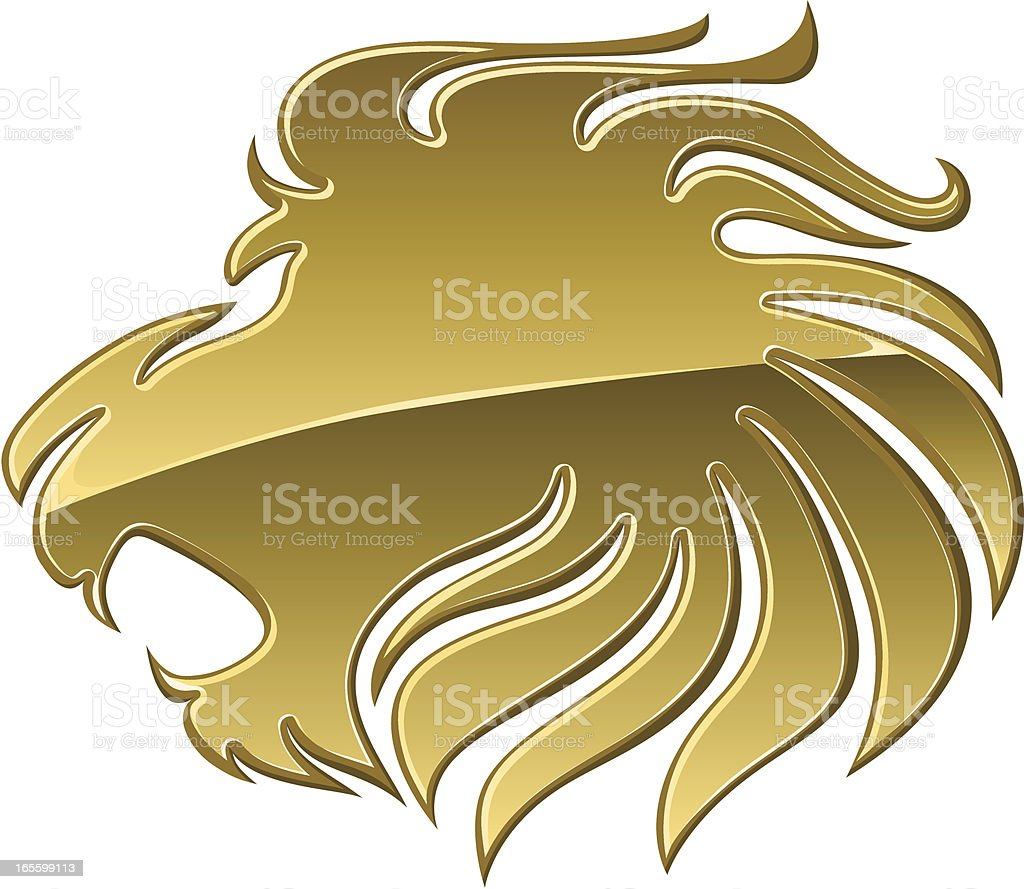 Gold Lion royalty-free stock vector art