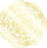 Gold majestic geometric mandala