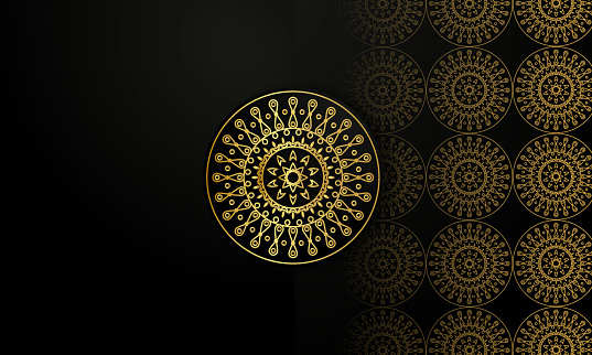 Gold mandala stock illustration