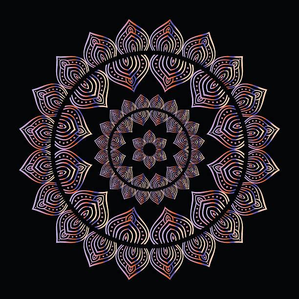 金の曼荼羅 - アジアのタトゥー点のイラスト素材/クリップアート素材/マンガ素材/アイコン素材