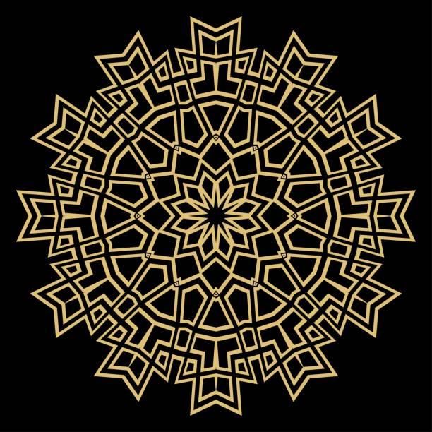Gold-Mandala. Vintage Deko-Elemente. Handgezeichnete Hintergrund. Vektor-Illustration. – Vektorgrafik